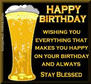 Happy Birthday - Beer :: Happy Birthday :: MyNiceProfile.com