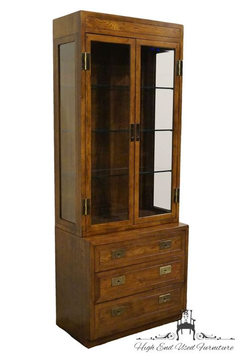 used display cabinets high end used furniture henredon one caign