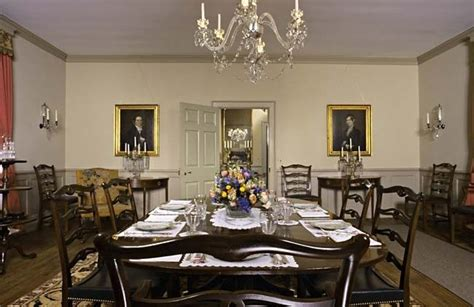 colonial williamsburg interiors bassett hall dining
