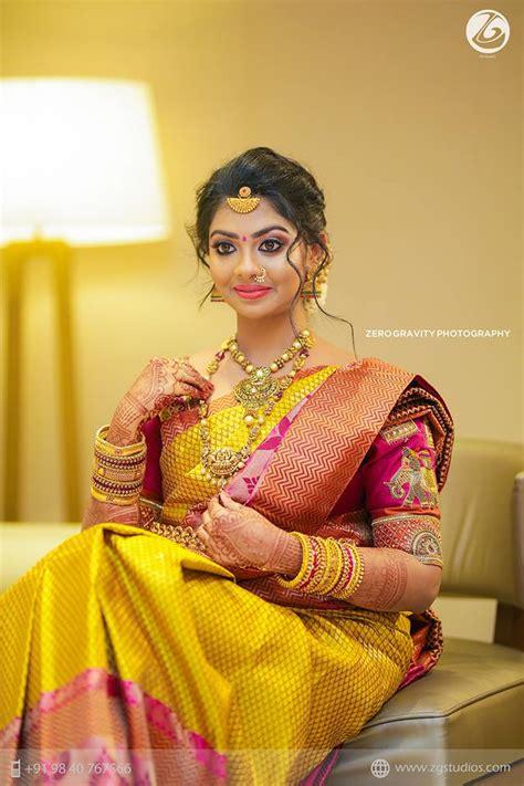 mustard  pink kanchipuram silk saree photo gallery