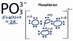 PO3 3- Lewis Structure - How to Draw the Lewis Structure ...