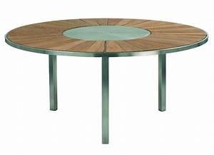 Table O ZON 160 Teck/Inox EP de Royal Botania