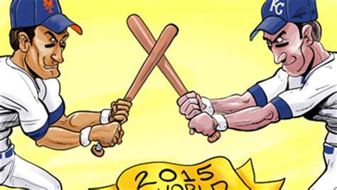 world series mets  kansas city cartoon cartoon