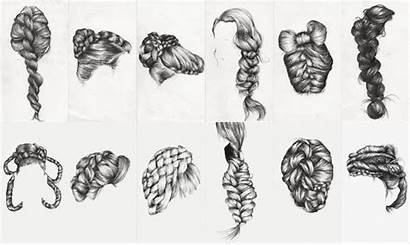 Braid Drawing Study Drawings Ongoing Pencil Drawn