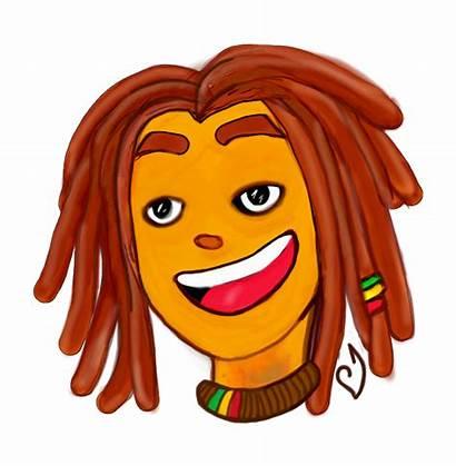 Cartoon Clipart Transparent Dreads Dreadlocks Drawing Reggae