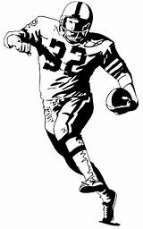 Football Coloring Pages Sheets Player American Footballer Different sketch template