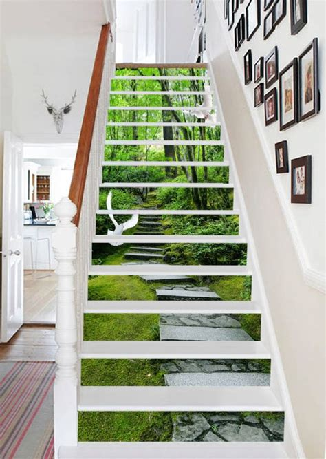 Home Design 3d Stairs by Details About 3d Forest Stairs 27 Stair Risers Decoration