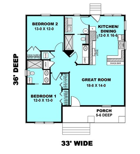 simple bedroom cottage house plans ideas cottage style house plan 2 beds 2 baths 1073 sq ft plan