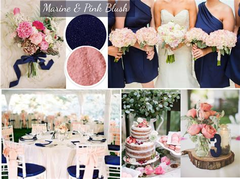 wedding color trends blue and pink navy blue and blush