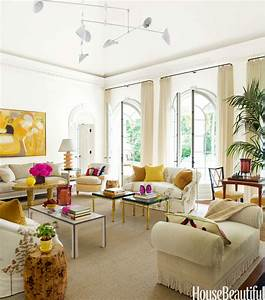 Living Room with Bold Color - House Beautiful Pinterest