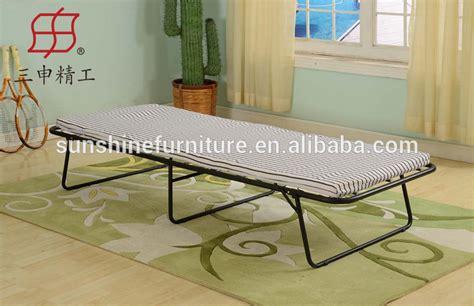 cheap simple design portable metal single folding bed fold