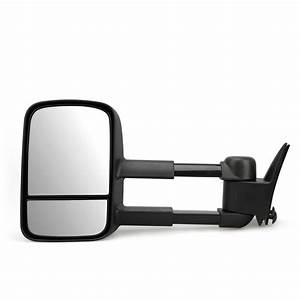 Pair Manual Tow Mirrors Glass Trailer For Chevy Gmc C  K