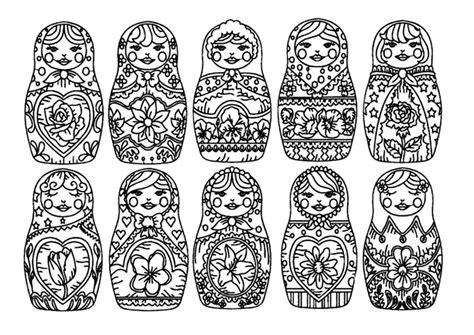 kolorowanki dla doroslych matrioszki  wydruku czesc