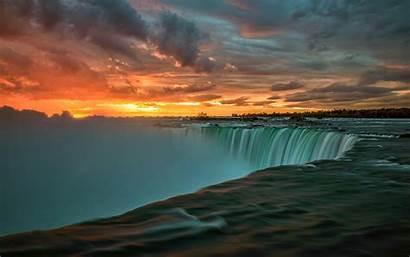 Canada Niagara Falls Sunset 4k Wallpapers Desktop