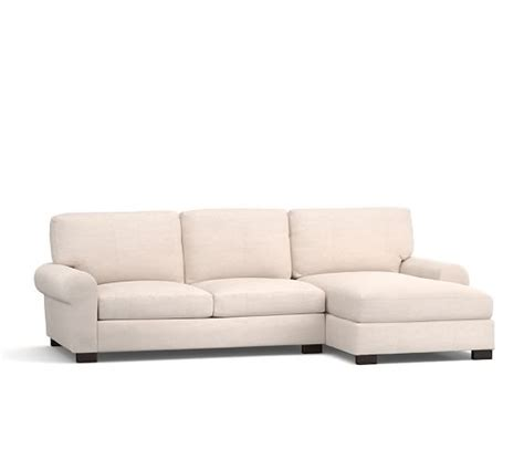 Pottery Barn Turner Roll Sofa by Turner Roll Arm Upholstered Sofa With Chaise Sectional