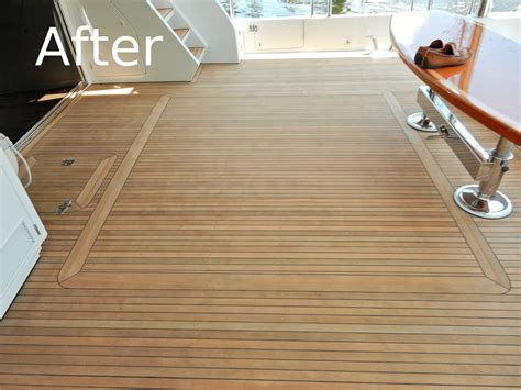 Boat Deck Refinishing by Teak Deck Repair Fort Lauderdale Fl Marine Teak Deck