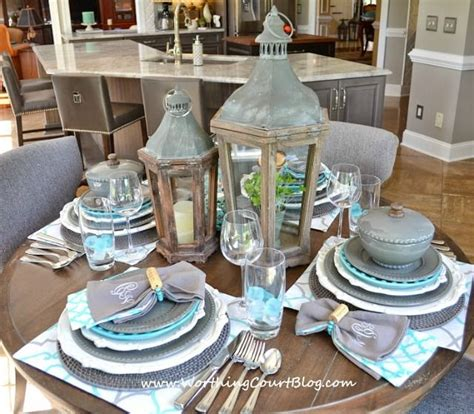beautiful  casual  table setting worthing court
