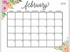 February 2018 Floral Calendar Wishes, Greeting Picture