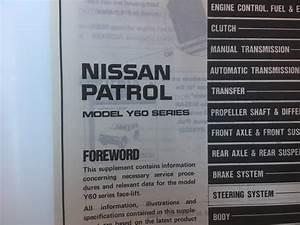 Nissan Patrol Y60 Series Supplement