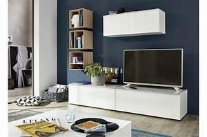 Meuble Mural Chambre : meuble tv composition murale amazone cbc meubles ~ Teatrodelosmanantiales.com Idées de Décoration