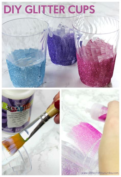 diy glitter cups a little craft in your day
