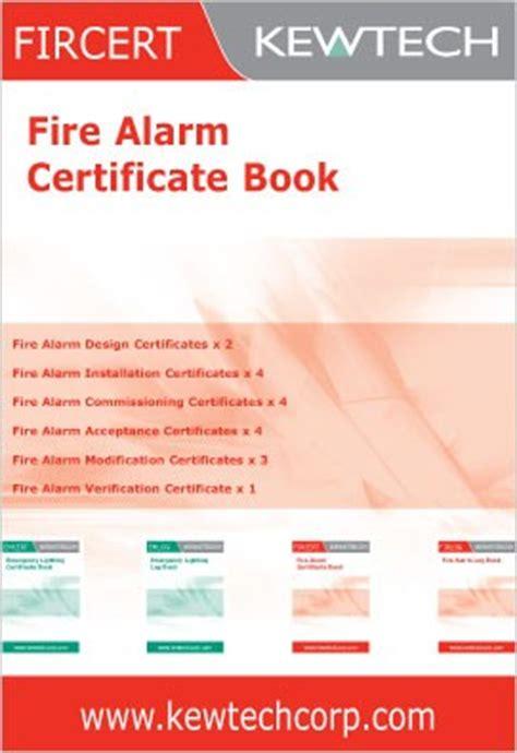 Kewtech Fircert Fire Alarm Certificate Book At Uk