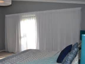 double track   sheer curtain   front