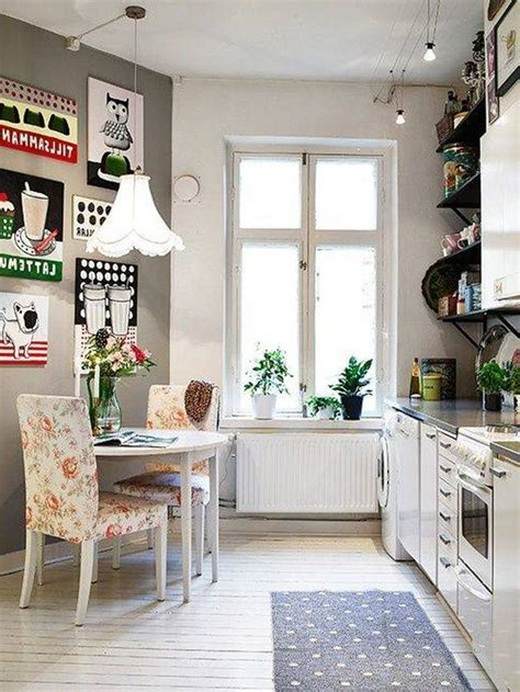 Modern Kitchen Small Apartment Nordic Scandinavian Retro