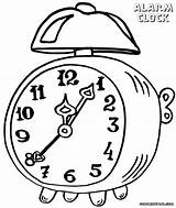 Clock Alarm Coloring Pages Colorings sketch template