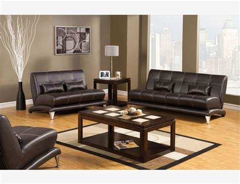 Espresso Leather Loveseat by Sleek Espresso Leather Sofa Loveseat Chair Living