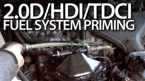 priming fuel system  volvo  ford tdci peugeot