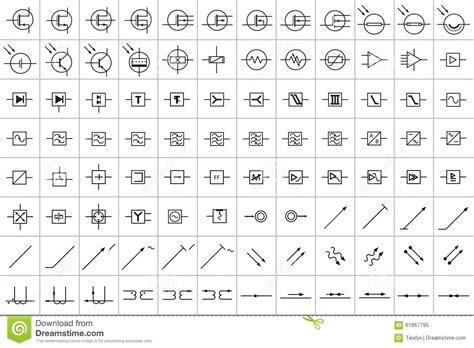 elektronische en elektrische symbolen   stock