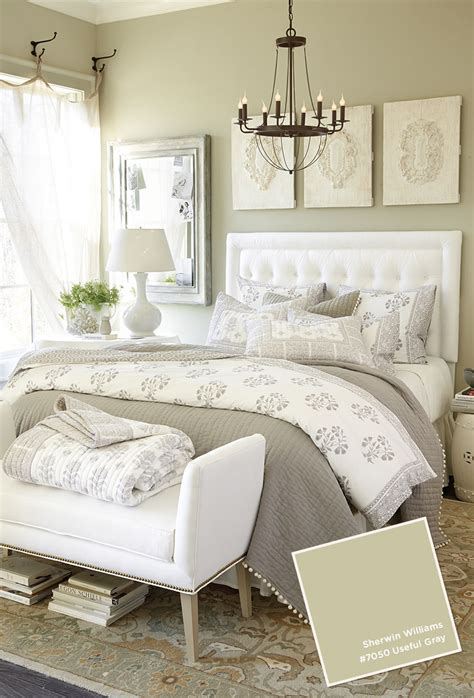 neutral bedroom   gray wall color  sherwin
