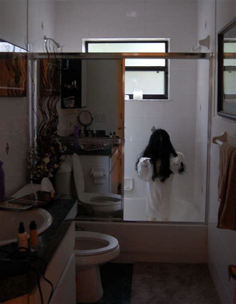 bathroom prank ideas demon child halloween bathroom decoration soft child mannequin in nightgown halloween