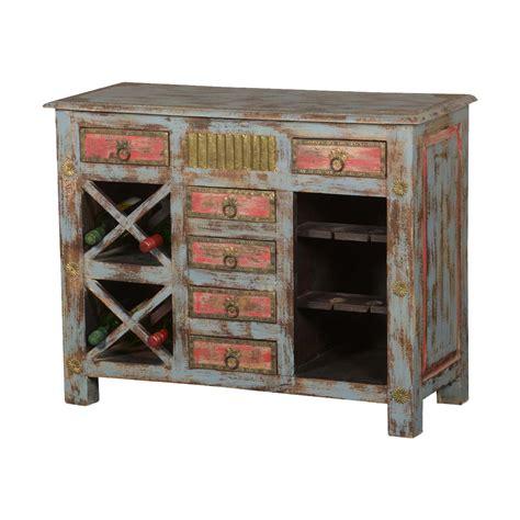 Distressed Wood Wine Cabinet Zef Jam