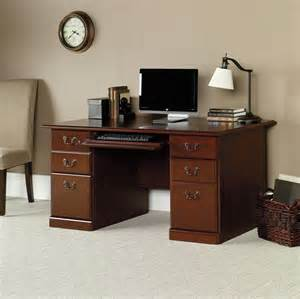 sauder heritage hill outlet 59 1 2 w executive desk 29 h x 59 1 2 w x 29 1 2 d classic