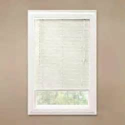 Mini Blinds by Hton Bay Alabaster 1 In Room Darkening Vinyl Mini