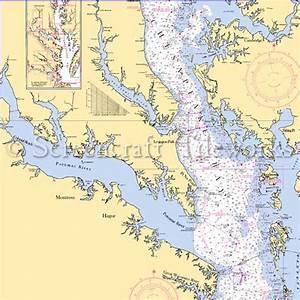 Maryland - Potomac River, MD, VA / Nautical Chart Decor