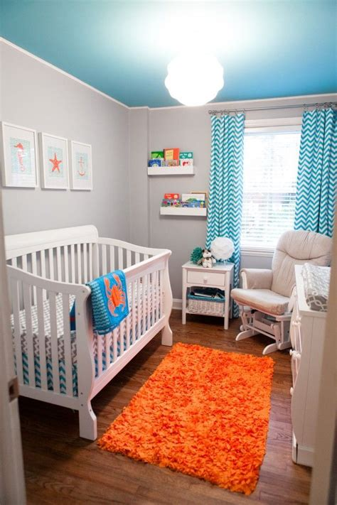 Orange Grey And Turquoise Living Room by Turquoise Grey And Orange Baby Bos Room Pictures Photos