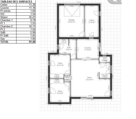 plan cuisine 11m2 awesome m de surface de plancher et deux chambres pour sr je dessine une maison rpondant aux