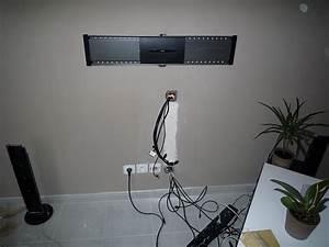 Fixer Une Télé Au Mur : fixer ecran plat au mur homeezy ~ Premium-room.com Idées de Décoration