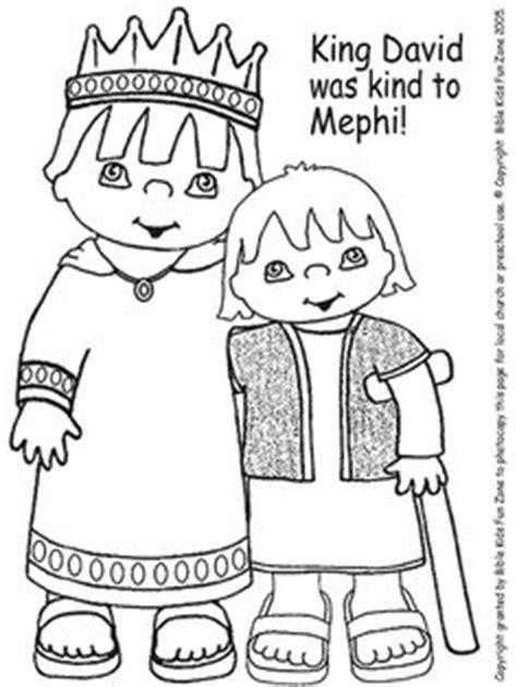 Mephibosheth David Bible Coloring Pages