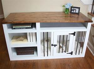 dog crate sofa table conceptstructuresllccom With dog crate buffet table