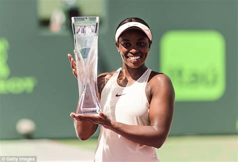 stephens wins miami open with victory ostapenko daily mail