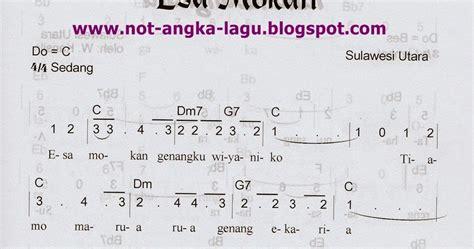 not angka lagu gambang semarang not angka lagu esa mokan kumpulan not angka lagu