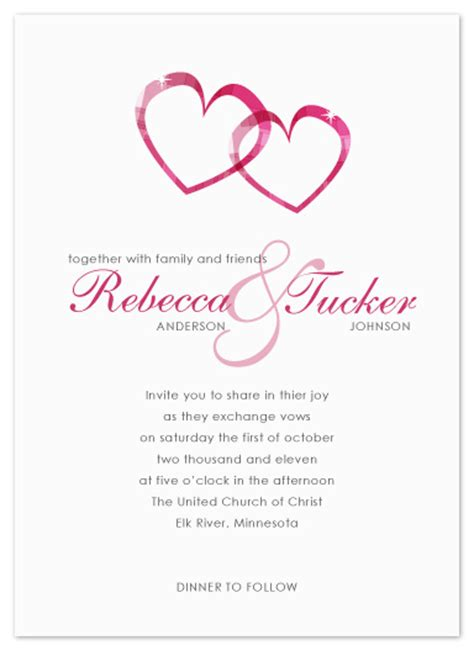 wedding invitations with hearts wedding invitations two hearts at minted com