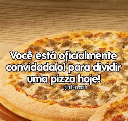 Pizza Mensagens Dia Glimboo Convite Frases