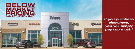 frisco chrysler dodge jeep ram cdjr dealer serving plano tx