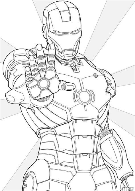iron man coloring pages printable  print color craft