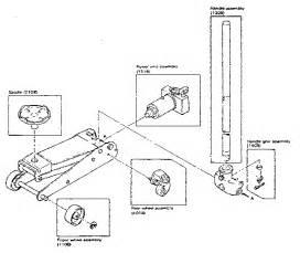 craftsman sears 1 1 2 ton floor service jack unit parts